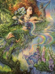 "Blank Card ""Enchantment"" Blank Card by Josephine Wall"